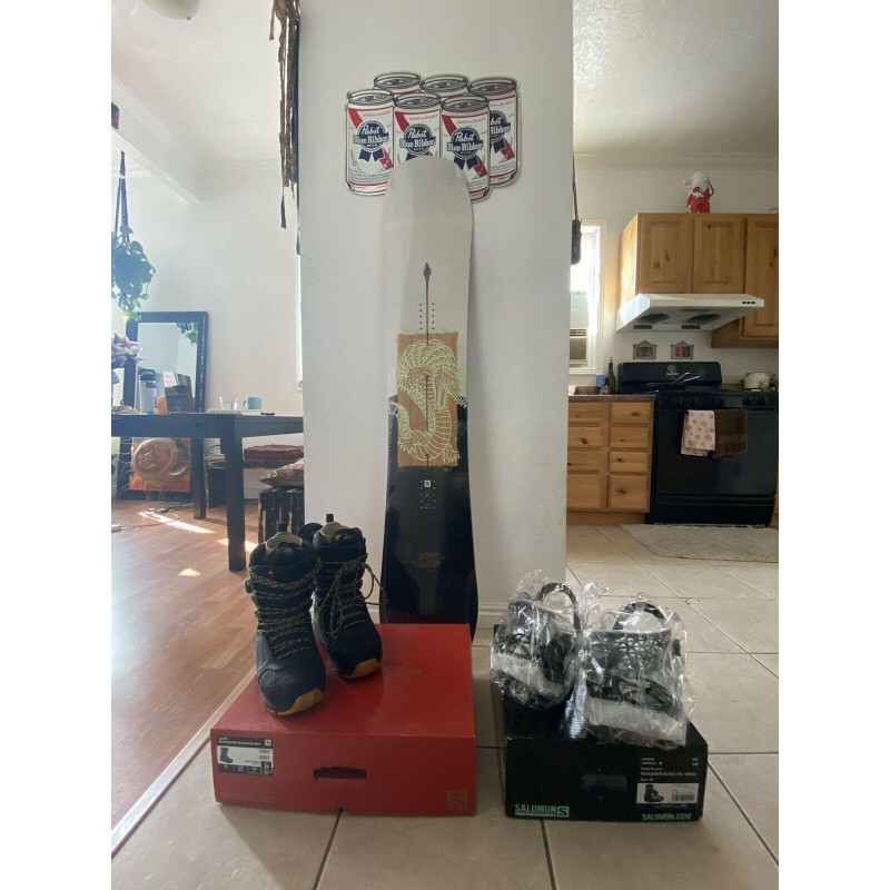 Complete Snowboard Set with Boots and Bindings